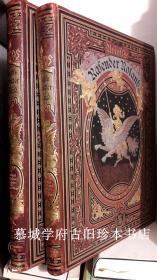 德文首印/巨型/皮装/多雷木刻插图版/意大利中世纪最畅销名著/阿里奥斯托《疯狂的罗兰》上下册,含81幅整版木刻插图 ARIOST 、GUSTAVE DORE RASENDER ROLAND
