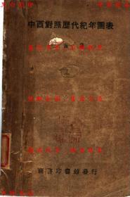 中西对照历代纪年图表-万国鼎编-民国商务印书馆发行刊本(复印本)