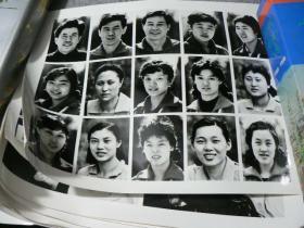 1983年16开黑白老照片 纪念女排夺冠一套