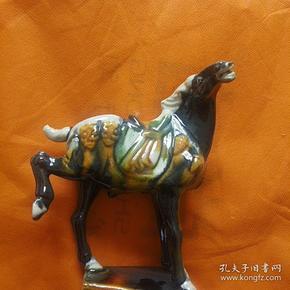 唐三彩马摆件
