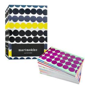 英文原版 芬兰品牌 风格文创 Marimekko 100 Postcards 100张明信片