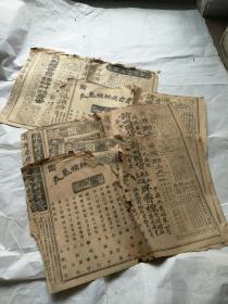 晚清(民国早期)报纸12份合售