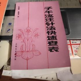 子午流注针法快速查表【作者刘国瑞鉴赠送本,1991年一版一印】