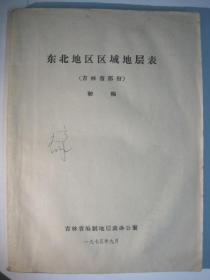 东北地区区域地层表 吉林省部分(初稿)