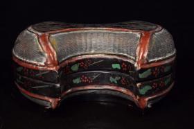 漆器枕型盒子