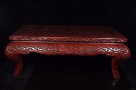 云雕炕桌一台,工艺精美,尺寸长72厘米,宽40厘米,高26厘米