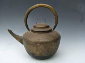 包老 古玩古董老铜器 黄铜茶壶酒壶金属器皿民间老物件旧货收藏