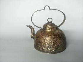 清代黄铜酒壶茶壶 古玩杂件老铜器 民俗物品民间老物件怀旧收藏