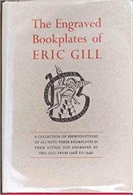 英国木刻大师艾立克.吉尔,木刻藏书票作品集The Engraved Bookplates of Eric Gill ~ 1908-1940