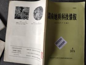 湖南地质科技情报 1978 4