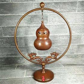 铜器红铜葫芦香熏炉摆件