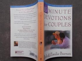 15 minute devotions for couples【大32开,英文原版】