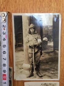 1939年侵華日軍(中支派遣軍)小隊長在【湖北武昌】拍攝的照片一枚
