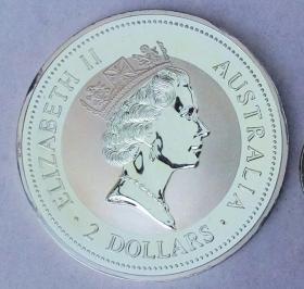 澳大利亚1996年 2盎司 999纯银币
