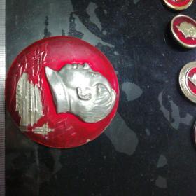 毛主席像章(热烈庆祝全国山河一片红)