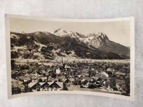 老 明信片 德国 1936年 冬季 奥运会 邮戳 实寄