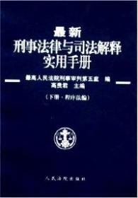 9787802175747-xg-*新刑事法律与司法解释实用手册 上下册 实体法编 专著 高贵君主编 *高人