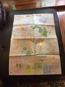 老地图一张:柳州市区图2006 广西交通旅游图