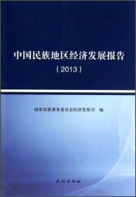 中国民族地区经济发展报告(2013)