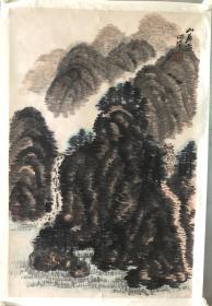 (3周年店庆优惠,买3幅加送1幅。)北京 李问汉写生山水,省诗词学会会长收藏作品流出,画面有收藏章,介意慎购。