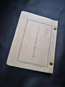 《三十五年式海军铳分解结合法》 ,日版军事古书收藏之十, 早已绝版 ,很小开本(迷你),1903年版本,书后有附图四张