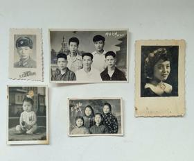 六几年老照片(5张合售)