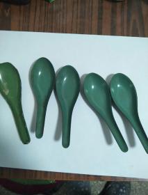 民国豆清搪瓷小勺