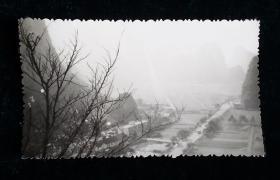 风景钡基老相片一枚六七十年代