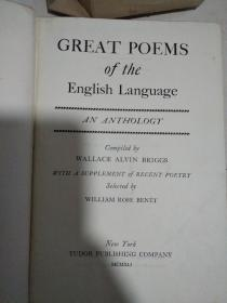 GREAT POEMS OF THE ENGLISH LANGUAGE【外文原版】