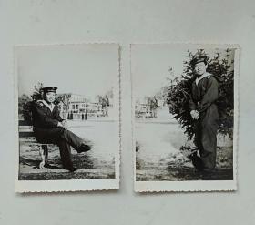 老照片:海军士兵照(2张合售)