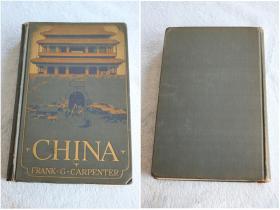 英文原版-1925年首版Carpenters world travels 卡朋特世界旅行 中国 有很多老照片影像!