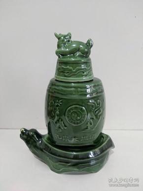 陶瓷龟驮龙酒瓶分体酒瓶
