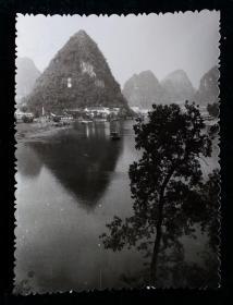 水墨丹青山水风景老相片照片一枚