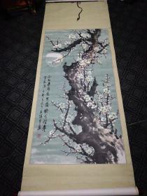 梅花图(王慎平画)(215cm*75cm)