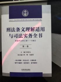刑法条文理解适用与司法实务全书  第一卷