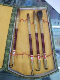 中国书画笔4支,品差如图山羊牌
