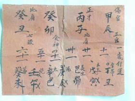光绪年山西武乡县占卜人生行运卦帖(1岁行运—61岁行运)