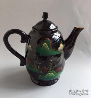 八十年代漆器壶