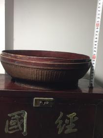 《特价》精工,清代中期竹编器盒