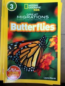 平装 National Geographic Readers: Great Migrations Butterflies 国家地理读者3:大迁移蝴蝶