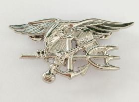 极品顶级美国特种部队世界最厉害的特种部队---海豹突击队徽章(银色)金属不掉色可佩带西服上质量上乘堪比原品值得佩戴和收藏