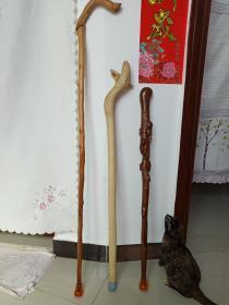 实木拐杖(手杖、文明杖、拐棍)三根汇总发布