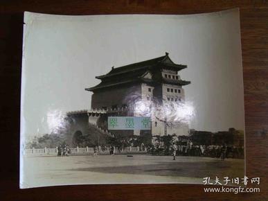 银盐老照片,北京西直门,大幅原照尺寸约27*21cm