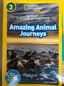 平装 National Geographic Readers: Great Migrations Amazing Animal Journeys  国家地理读者3:伟大的移民惊人的动物之旅