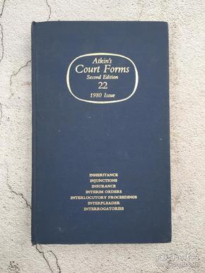 Atkins court forms vol. 22 1980 issue inheritance to interrogatories