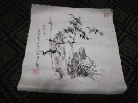 墨竹1:赵孝亮画(35cm*35 Cm)