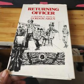 RETURNING OFFICER, Historical Novel 【英文原版 精装 签名】