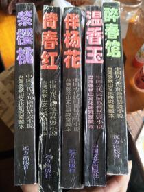 中国历代民间艳情禁毁小说:伴杨花、醉春馆、倚春红、紫樱桃、温香玉,五本合售