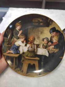 西洋 欧洲 奥地利 装饰盘 挂盘 限量版 1988奥地利品牌LILIEN PORZELLAN 奥地利画家FRANZ VON DEGREGGER作品直径20cm