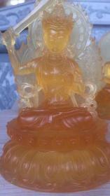 【文殊菩萨琉璃像认捐】  本觉寺念佛堂内计划供奉49尊文殊菩萨像,永久认捐功德金,琉璃材质,高26公分。